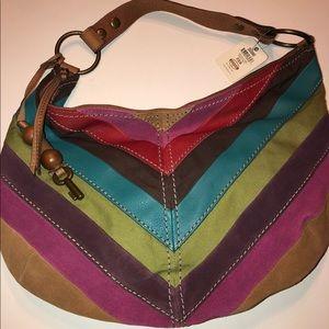 💗NWT Fossil Brand Multicolor Handbag